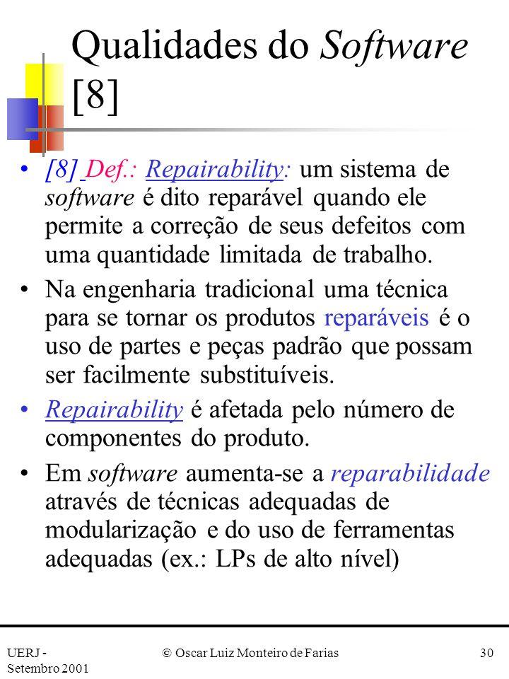 Qualidades do Software [8]